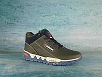 Мужские кроссовки Adidas зимние (синий/голубой), ТОП-реплика, фото 1
