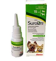 Суролан (Surolan) ушные капли для лечения отита у кошек и собак, 15 мл.