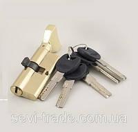 Цилиндр латунный С 100 (60*40) ключ/ключ  лаз. PB