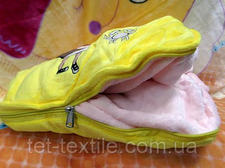 Плед - мягкая игрушка 3 в 1 (Сумочка желтая), фото 2