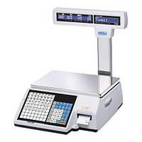 Весы торговые CAS CL5000J-IP-R до 15 кг, с печатью этикеток, со стойкой