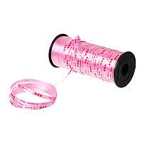 "Лента, Розовый, ABS пластик, Сердечка, Надпись: "" I love you "", 5 мм"