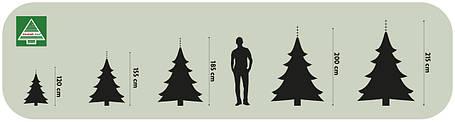 """Сосна 90 см """"перевернутая"""" Forest frosted с инеем, фото 2"""