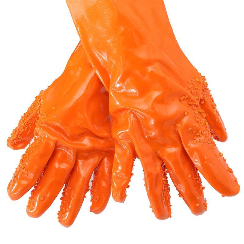🔝 Абразивные перчатки для чистки овощей и картофеля Tater Mitts, Оранжевые, с доставкой по Украине | 🎁%🚚