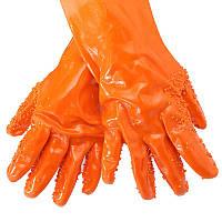🔝 Абразивные перчатки для чистки овощей и картофеля Tater Mitts, Оранжевые, с доставкой по Украине | 🎁%🚚, фото 1