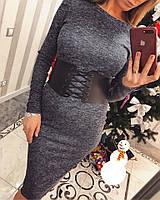 Красивое женское платье  с поясом-корсетом