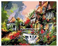 """Картина по номерам """"Дом с водопадом"""" G102 (40*50 см)"""