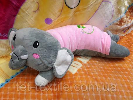 Плед - мягкая игрушка 3 в 1 (Слоник), фото 2
