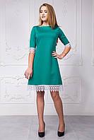 Молодежное женское платье с кружевом хит продаж