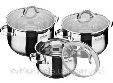Набор  посуды из нержавеющей стали на 6 предметов, фото 2