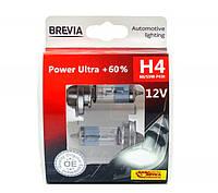 Автолампы H4 Brevia Power Ultra 12V 60/55W (+60%)