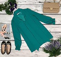 Шифоновая блуза New Look с воротником-бантом и декорированными рукавами 3/4  BL49171