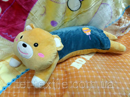 Плед - мягкая игрушка 3 в 1 (Мишка), фото 2