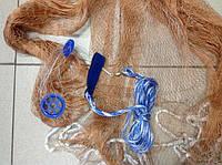 Кастинговая сеть американского типа из нитки,с алюминиевым кольцом,диаметр 4метра ячейка 20мм