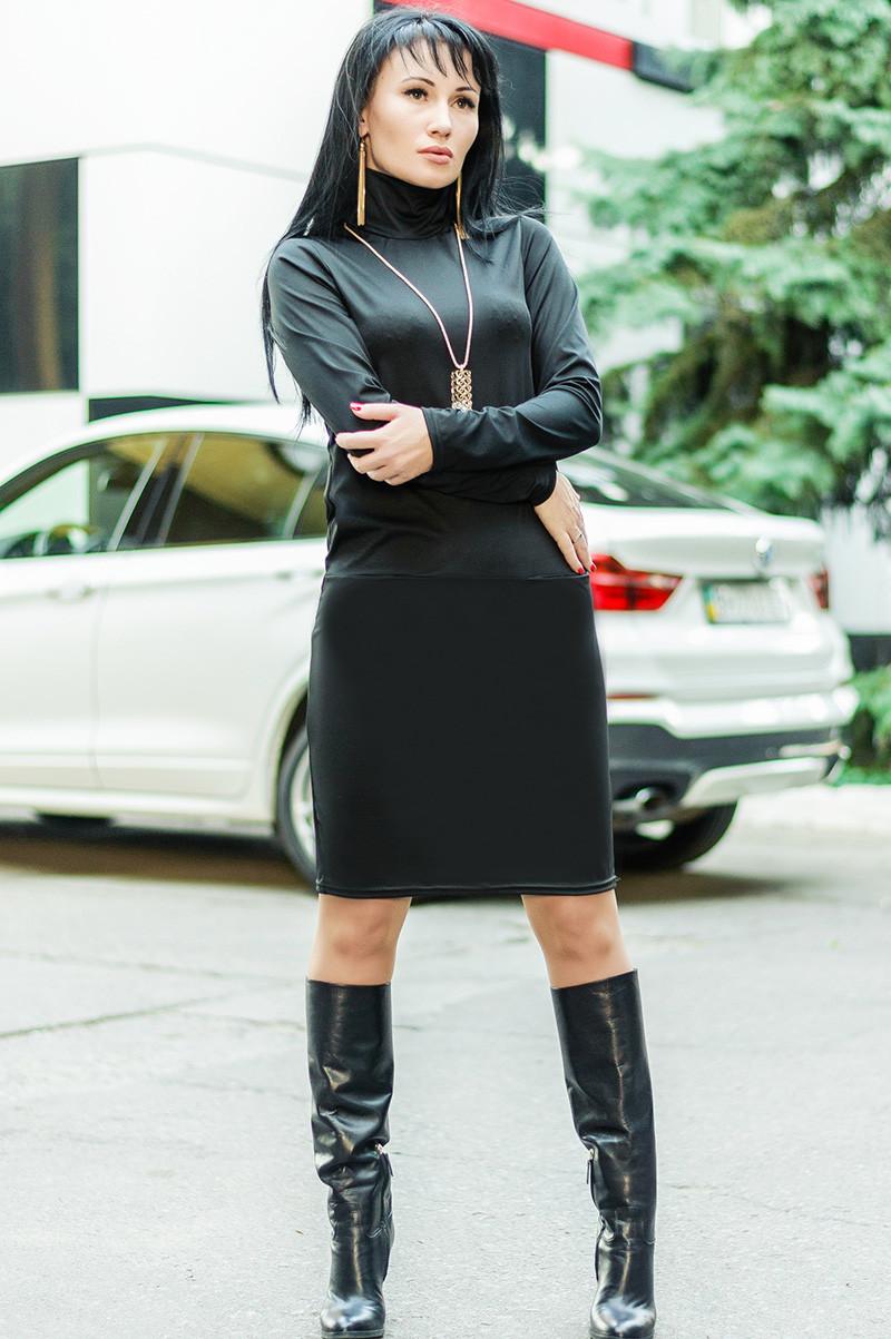 Черное платье для офиса -Шопен-