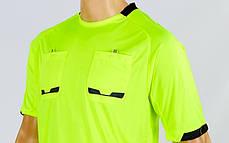 Форма футбольного судьи CO-1270-LG (полиэстер, р-р L-XXL, салатовый, шорты черные), фото 2