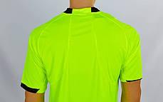 Форма футбольного судьи CO-1270-LG (полиэстер, р-р L-XXL, салатовый, шорты черные), фото 3