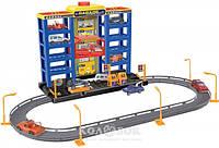 Игровой набор Dave Toy City parking Гараж с треком, с 6 машинками