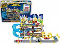 Игровой набор City parking Парковка с подъёмом, 3 уровня, с 4 машинками