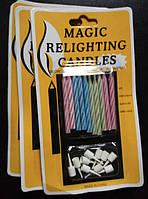Свечи праздничные волшебные (нетухнущие)
