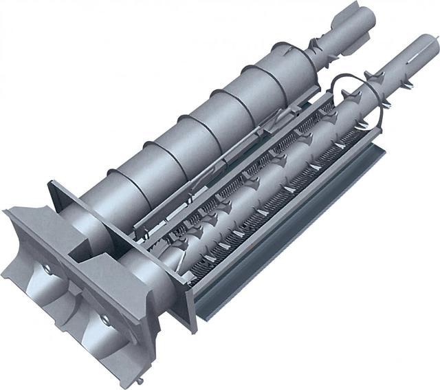 Фото роторной системы обмолота