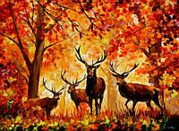 """Картина по номерам """"Семья оленей"""" gx7627 (40*50 см)"""
