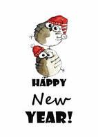 """Новогодняя открытка """"Совы"""", фото 1"""