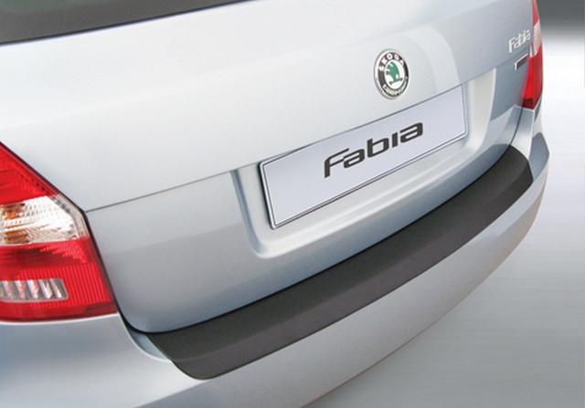 RBP543 Rear bumper protector Skoda Fabia II lift. 2010-2015