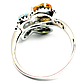 Топаз, хризолит и цитрин, серебро 925, кольцо, 1011КЦТ, фото 3