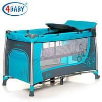 Детский манеж кроватка 4 Baby манеж тур. Moderno (Dark Turkus)