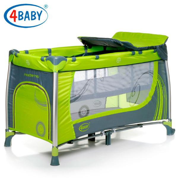 Детский манеж 4 Baby манеж тур. Moderno (Green) зеленый
