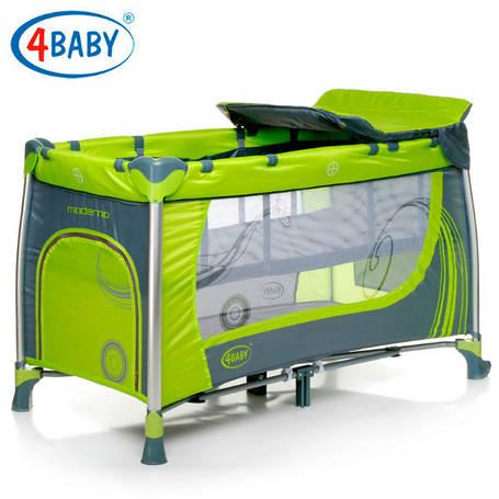Детский манеж 4 Baby манеж тур. Moderno (Green) зеленый, фото 2