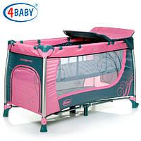 Детский манеж кроватка 4 Baby манеж тур. Moderno (Purple) фиолет
