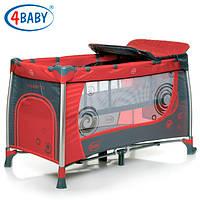 Детский манеж кроватка 4 Baby манеж тур. Moderno (Red) красный