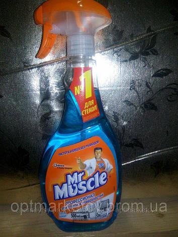 """Средство для мытья стекол и других поверхностей Mr Muscle профессионал для стекол """"После дождя """" (500 мл.), фото 2"""