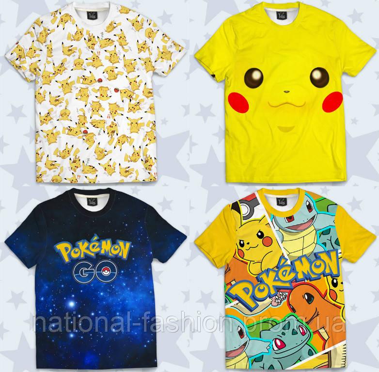 """Футболка детская 3D """"Pokemons/Покемоны"""" (р.110-140)"""