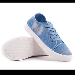 Кеды джинсовые низкие (WONEX) 37, стелька 23.5 см