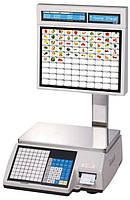 Весы торговые CAS CL5000J-IS до 30 кг, с печатью этикеток, со стойкой