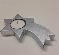 """Подсвечник """"Комета"""" 15 см, серебряный"""