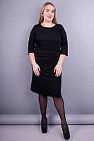 Распродажа Одежда от производителя Изысканное женское платье больших  размеров. Черный.Тейлор.