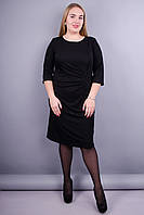 Распродажа Одежда от производителя Изысканное женское платье больших  размеров. Черный.Тейлор. 50