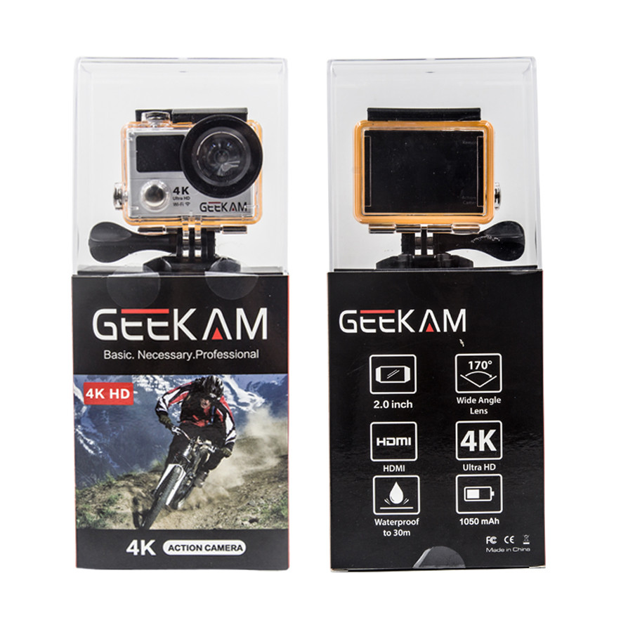 Экшн камера GEEKAM H3R ULTRA HD 4K Wi-Fi (Black)