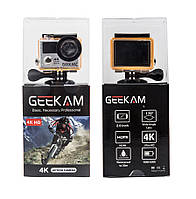 Экшн камера GEEKAM H3 ULTRA HD 4K Wi-Fi (Black), фото 1