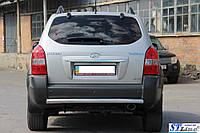 Защита на задний бампер Hyundai Tucson 2004+