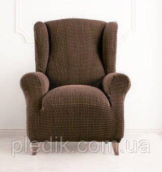 Чехол на кресло натяжной Испания, Glamour Ante Гламур коричневый