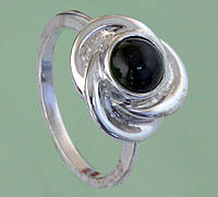 Срібний перстень з хромдіопсидом