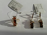 Ювелирный гарнитур из серебра с золотом и крупным камнем (арт.01-025Н)