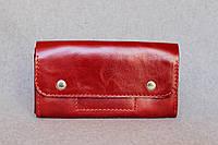 Кожаный кошелек Карин | Краст Рубин , фото 1