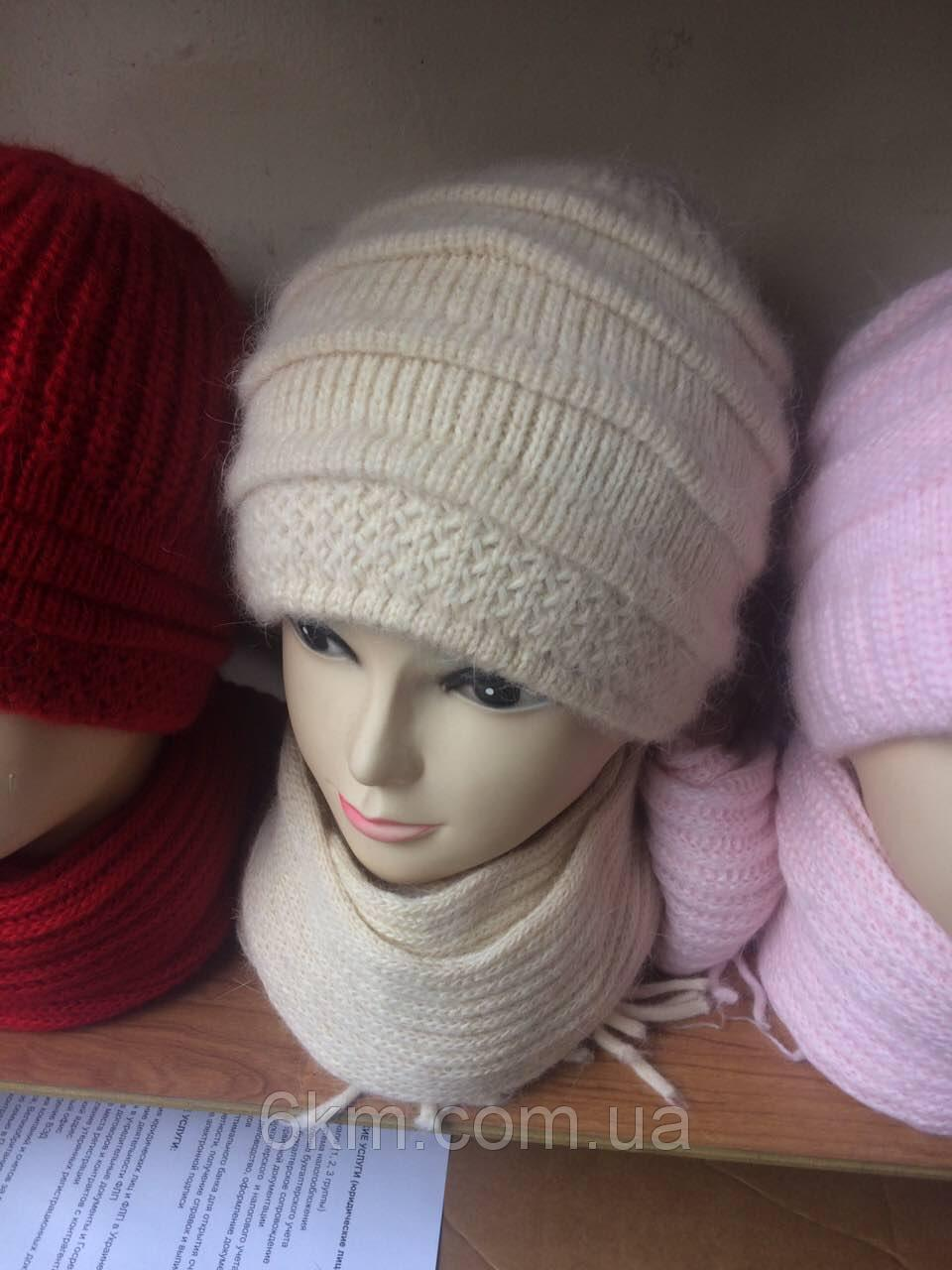 3ab065d1f5cf Женская шапка+шарф ангора в ассортименте: продажа, цена в Одессе. шапки от