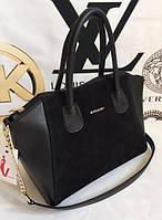 Женская замшевая сумка Givenchy, чёрная Живанши, фото 1